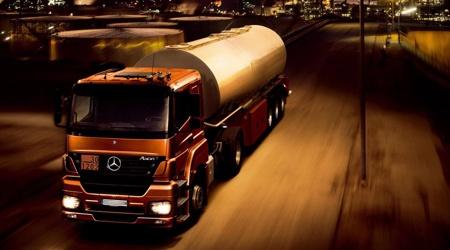 Tankování - Mercedes Actross